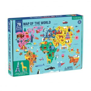 Map of the World 78 Piece Jigsaw Puzzle - Mudpuppy