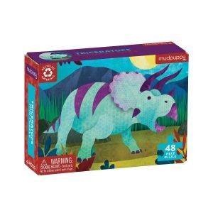 Mini Puzzle - Triceratops 48 Piece Puzzle - Mudpuppy