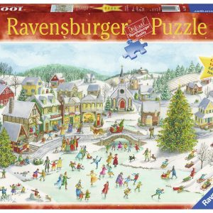 Playful Christmas Day 1000 Piece Jigsaw Puzzle - Ravensburger