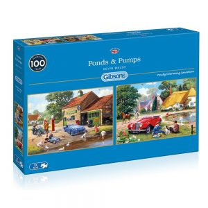 Ponds & Pumps 2 x 500 Piece Jigsaw Puzzle - Gibsons
