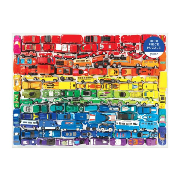 Rainbow Toy Cars 1000 Piece Jigsaw Puzzle - Galison