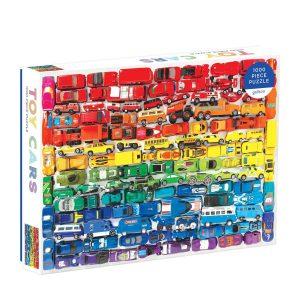 Rainbow Toy Cars 1000 Piece Jigsaw Puzzle - Galison