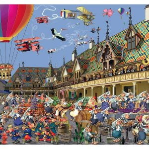Ruyer, Wine Auction 1000 Piece Jigsaw Puzzle - Piatnik
