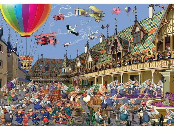 Ruyer, Wine Auction 1000 Piece Jigsaw Puzzle - Piatnik