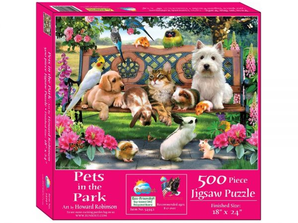 Pets in the Park 500 Piece Jigsaw Puzzle - Sunsout