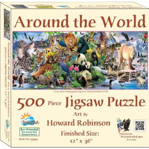 Around the World 500 Piece Jigsaw Puzzle - Sunsout