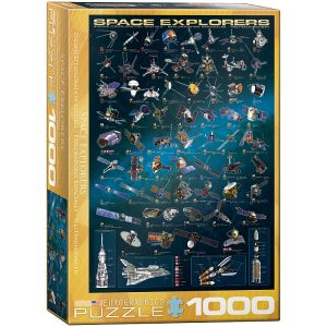 Space Explorers 1000 Piece Jigsaw Puzzle - Eurographics