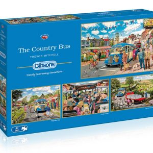 The Country Bus 4 x 500 Piece Jigsaw Puzzles - Gibsons