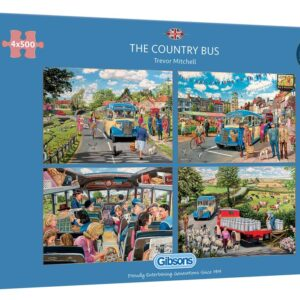 The Country Buss 4 x 500 Piece Puzzle - Gibsons