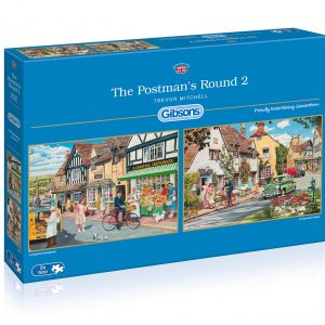 The Postman's Round 2 - 2 x 500 Piece Jigsaw Puzzle - Gibsons