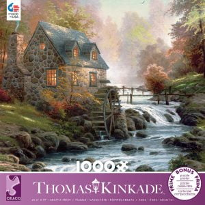 Thomas Kinkade - Cobblestone Mill 1000 Piece Jigsaw Puzzle - Ceaco