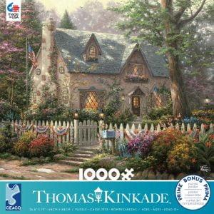 Thomas Kinkade - Liberty Lane 1000 Piece Jigsaw Puzzle - Ceaco
