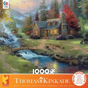 Thomas Kinkade - Mountain Paradise 1000 Piece Jigsaw Puzzle - Ceaco