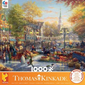 Thomas Kinkade - The Pumpkin Festival 1000 Piece Jigsaw Puzzle - Ceaco