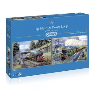 Up Main & Down Loop 2 x 500 Piece Jigsaw Puzzles - Gibsons