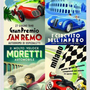 Vintage Italian Auto Posters 1000 Piece Puzzle - Piatnik
