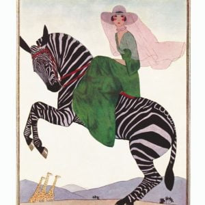Vogue Lady on a Zebra 500 Piece Jigsaw Puzzle - New York Puzzle Company