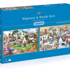 Wigwams & Woolly Hats 2 x 500 Piece Jigsaw Puzzles