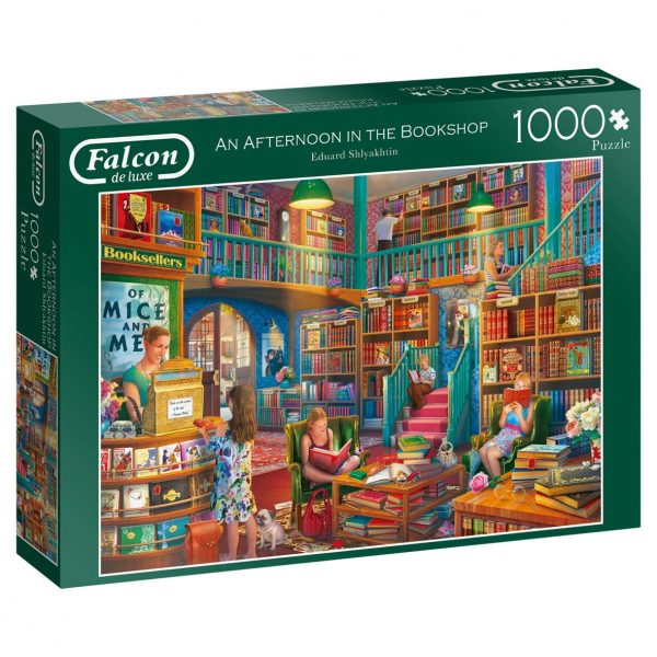 An Afternoon in the Bookshop 1000 Piece Jigsaw Puzzle - Falcon de luxe