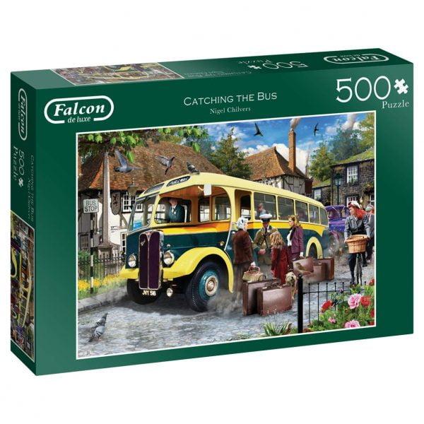 Catching the Bus 500 Piece Puzzle - Falcon de luxe