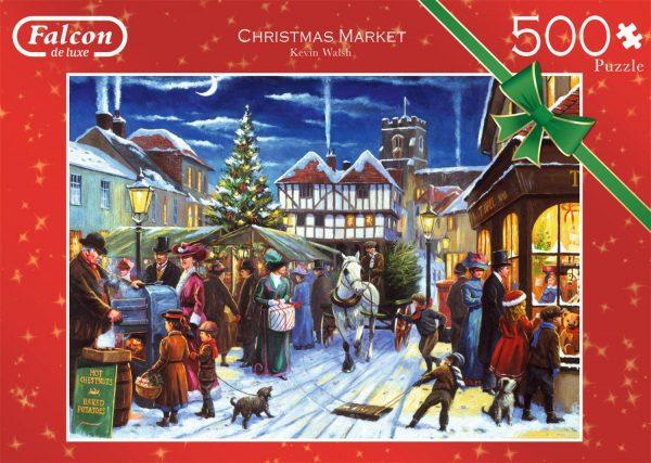 Christmas Market 500 Piece Jigsaw Puzzle - Falcon de luxe