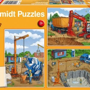 Construction Work 3 x 24 Piece Jigsaw Puzzle - Schimdt