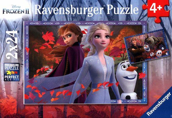 Disney Frozen 2 - Frosty Adventures 2 x 24 Piece Puzzle - Ravensburger