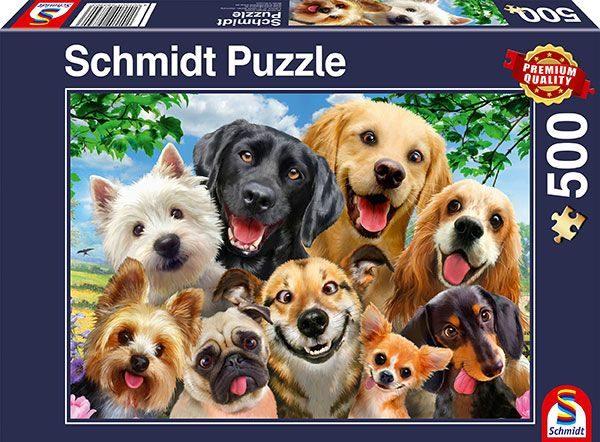 Dog Selfie 500 Piece Jigsaw Puzzle - Schmidt