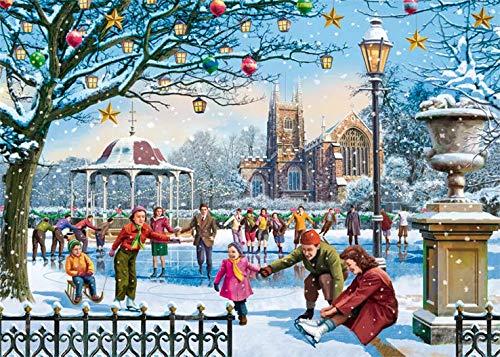 Family Time at Christmas 4 x 1000 Piece Puzzle - Falcon de luxe