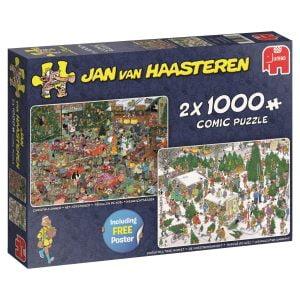 JVH Christmas Gifts 2 x 1000 Piece Jigsaw Puzzle - Jumbo