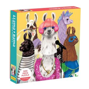 Llama & Rama 500 Piece Jigsaw Puzzle - Mudpuppy