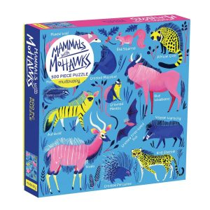 Mammals with Mohawks 500 Piece Jigsaw Puzzle - Mudpuppy