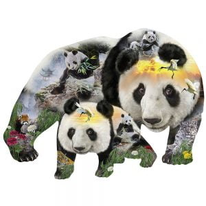 Panda-Monium Special Shaped 1000 Piece Jigsaw Puzzle - Sunsout