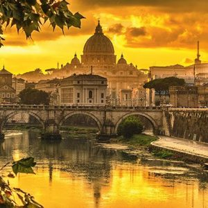 Rome Golden Light 1000 Piece Puzzle - Schmidt