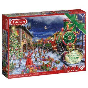 Santa's Special Delivery 2 x1000 Piece Puzzles - Falcon de luxe
