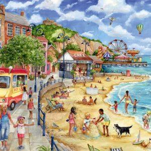 Seaside Promenade 1000 Piece Jigsa Puzzle - Falcon de luxe