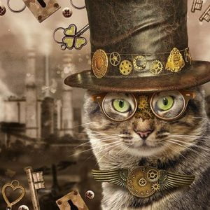 Steampunk Cat 1000 Piece Jigsaw Puzzle - Schmidt