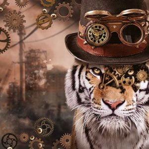 Steampunk Tiger 1000 Piece Jigsaw Puzzle - Schmidt