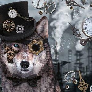 Steampunk Wolf 1000 Piece Jigsaw Puzzle - Schmidt