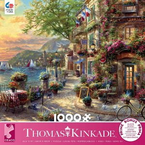 Thomas Kinkade - French Riviera Cafe 1000 Piece Jigsaw Puzzle - Ceaco