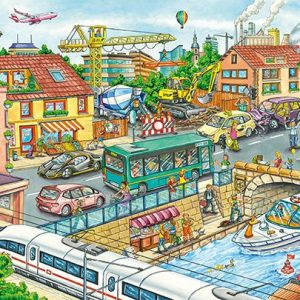 Vehicles & Traffic 60 Piece Jigsaw Puzzle - Schmidt
