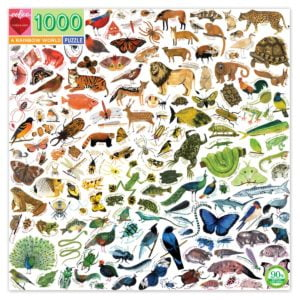 A Rainbow World 1000 Piece Jigsaw Puzzle - Eeboo