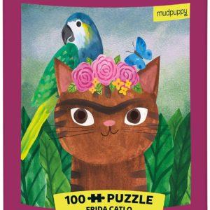 Artsy Cats - Frida Catlo 100 Piece Puzzle in a Tin - Mudpuppy