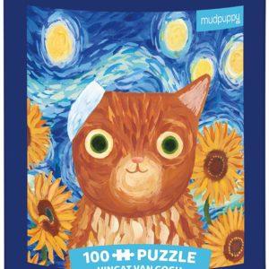 Artsy Cats - Vincat Van Gogh 100 Piece Puzzle - Mudpuppy