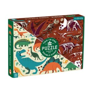 Dinosaur Dig 100 Piece Double Sided Puzzle - Mudpuppy