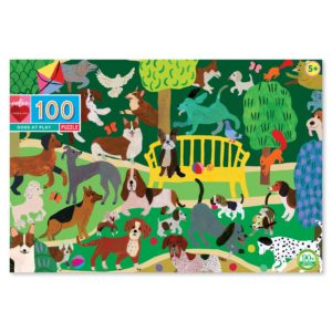 Dogs at Play 100 Piece Jigsaw Puzzle - eeBoo