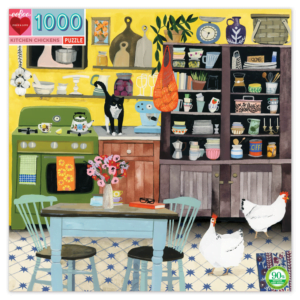 Kitchen Chickens 1000 Piece Jigsaw Puzzle - eeBoo
