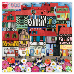 Whimsical Village 1000 Piece Jigsaw Puzzle - Eeboo