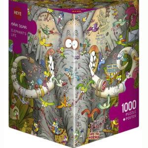 Degano - Elephant's Life 1000 Piece Puzzle - Heye