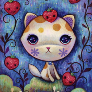 Dreaming Strawberry Kitty 1000 Piece Puzzle - Heye